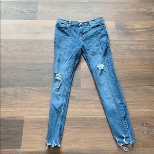 We The Free size 26 blue skinny jeans
